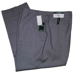 Ralph Lauren Dress Pants Gray Check 54 X 30